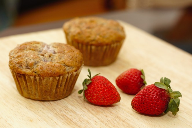 Strawberry Banana Muffins 2